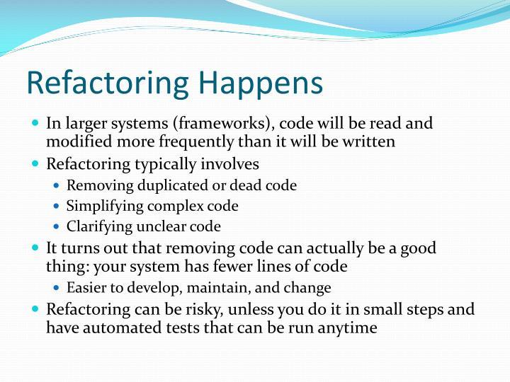 Refactoring Happens