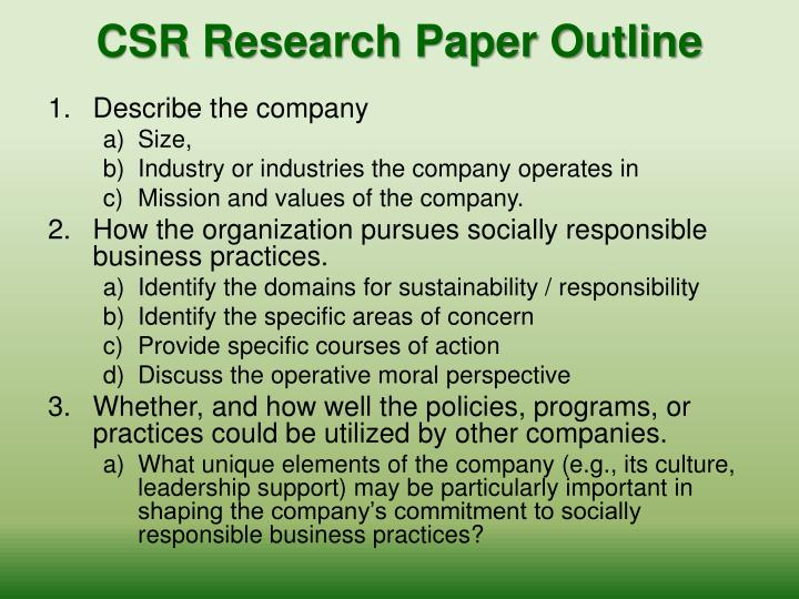 ppt - csr paper  assignment  powerpoint presentation