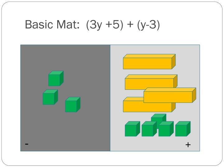 Basic Mat:  (3y +5) + (y-3)