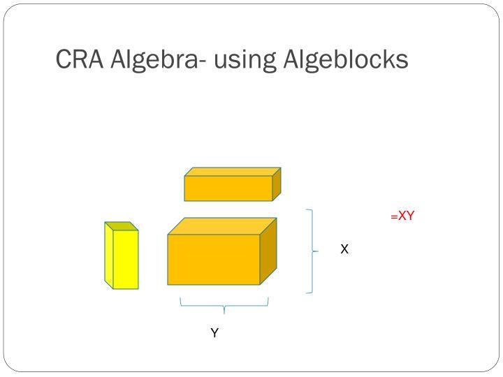 CRA Algebra- using