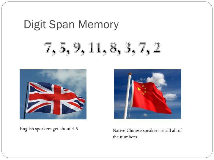 Digit Span Memory