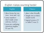 english makes counting harder
