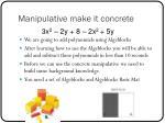 manipulative make it concrete