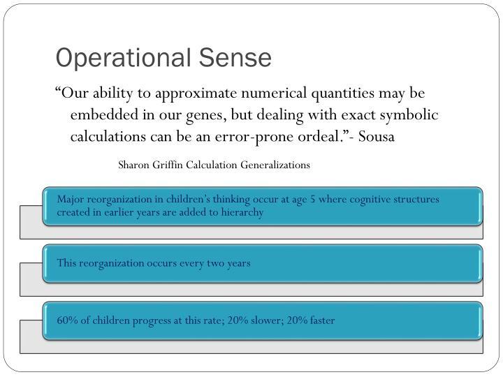 Operational Sense