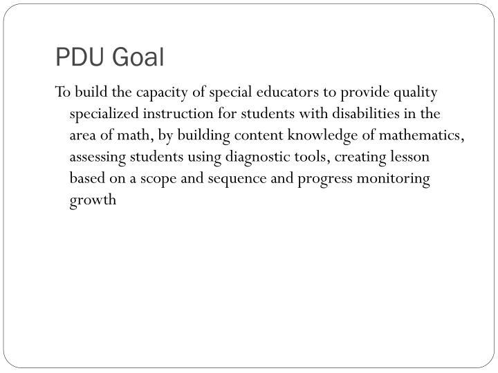 PDU Goal
