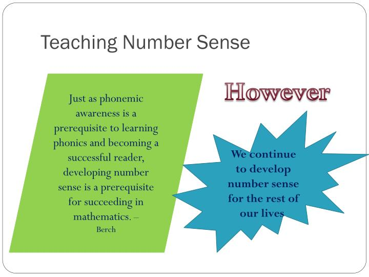 Teaching Number Sense
