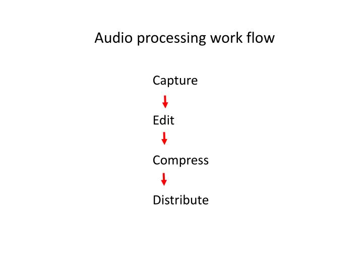 Audio processing work flow