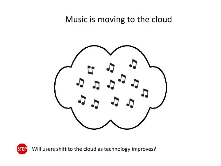 Music is moving to the cloud