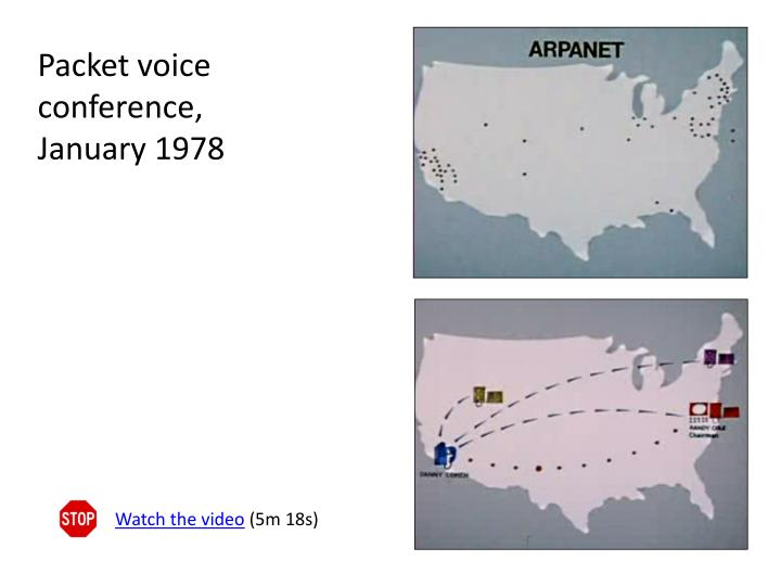 Packet voice conference, January 1978