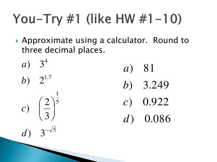You-Try #1 (like HW #1-10)
