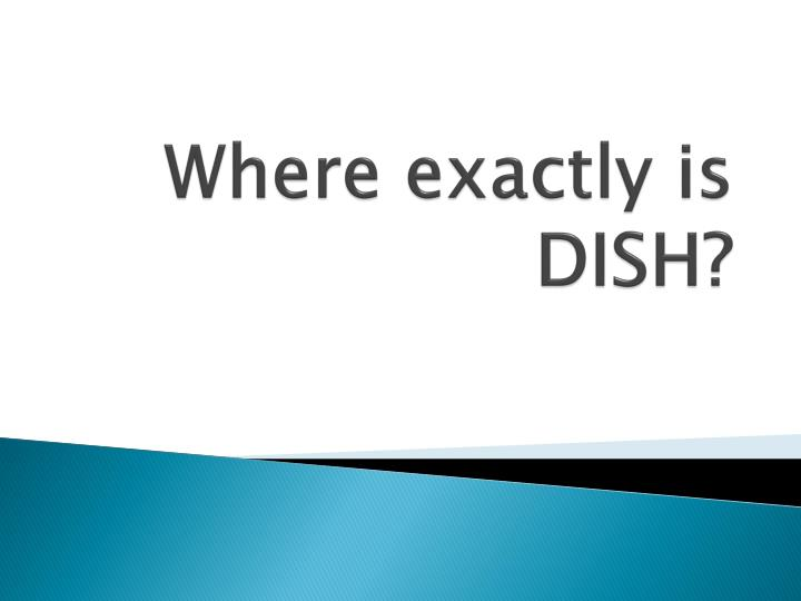 Where exactly is dish