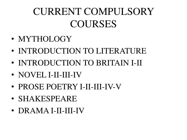 Current compulsory courses
