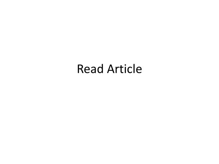 Read Article