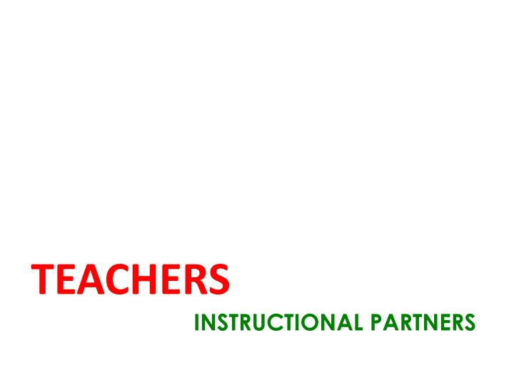 INSTRUCTIONAL PARTNERS