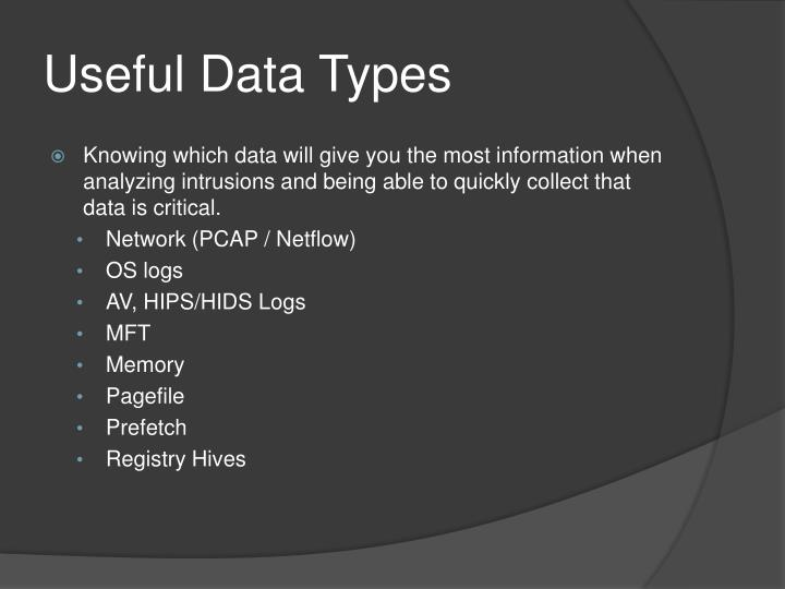 Useful Data Types