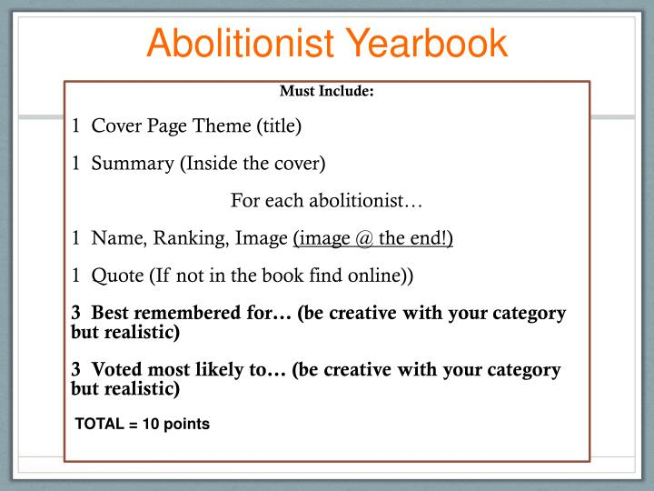 Abolitionist Yearbook