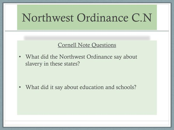 Northwest Ordinance C.N