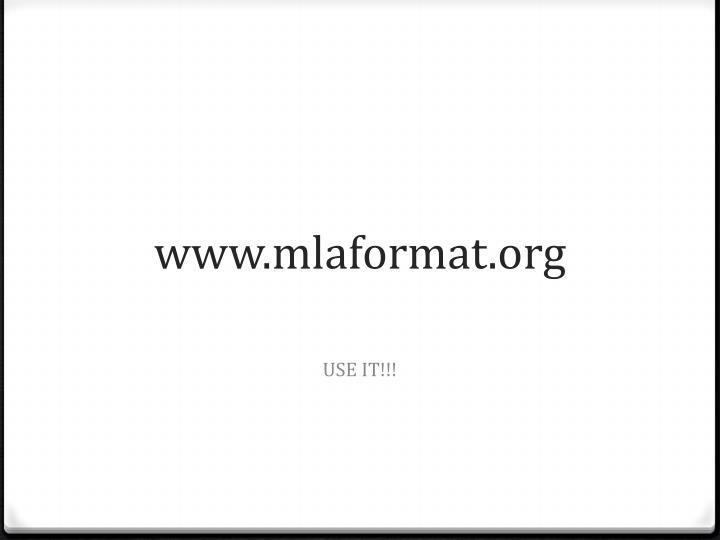www.mlaformat.org