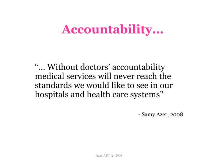 Accountability…