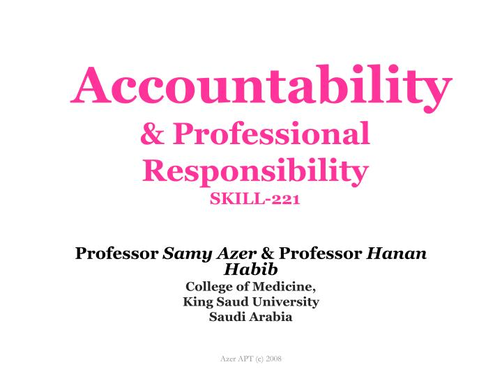 Accountability professional responsibility skill 221