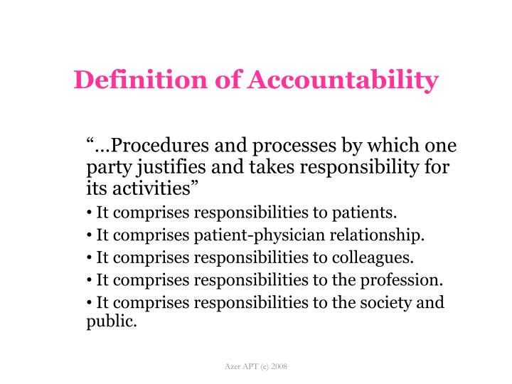 Definition of Accountability