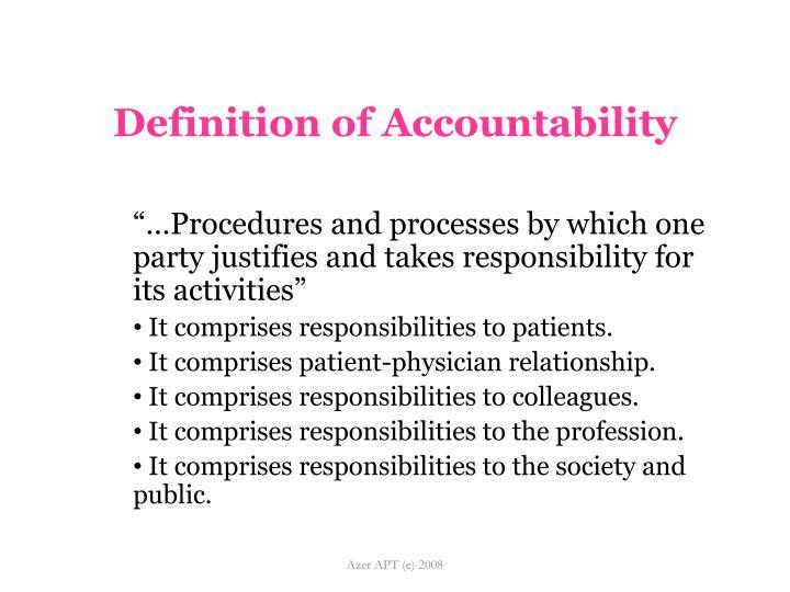 Definition of Accountability