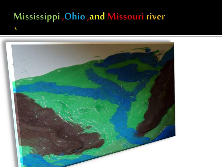 Mississippi ohio and missouri river