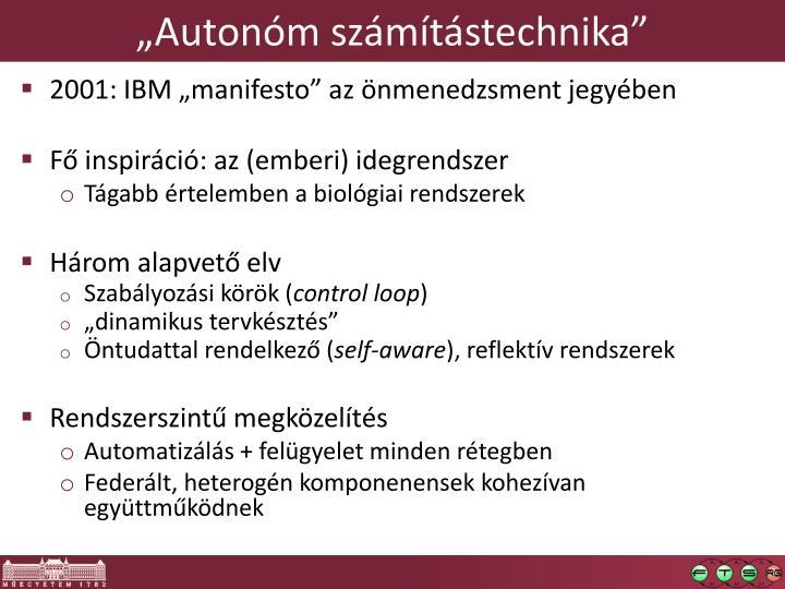 """""""Autonóm számítástechnika"""""""