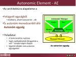 autonomic element ae