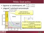 p lda goal policy