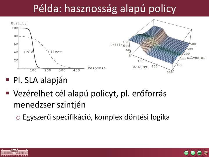 Példa: hasznosság alapú policy