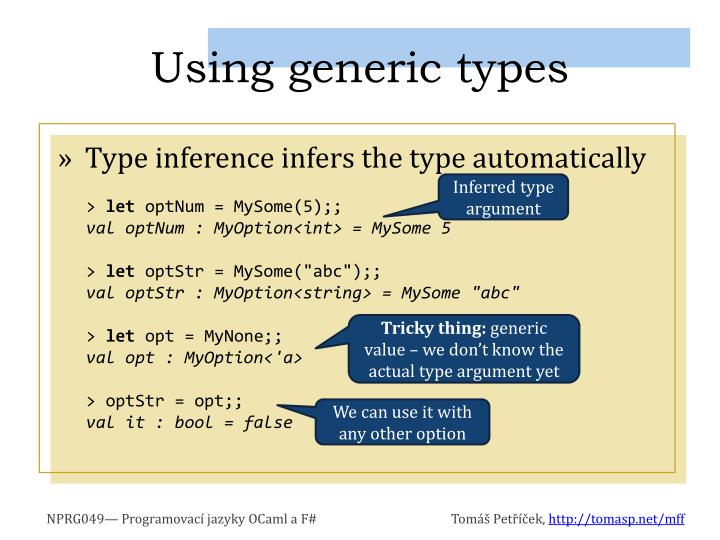 Using generic types