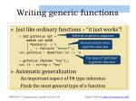 writing generic functions