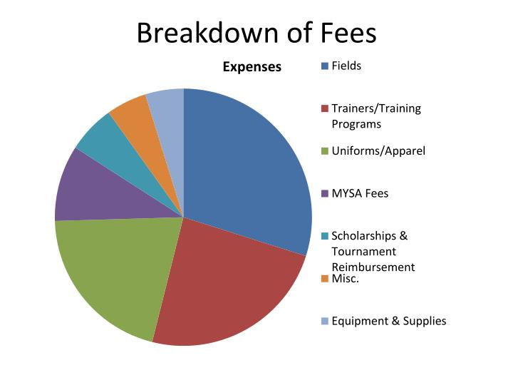 Breakdown of Fees