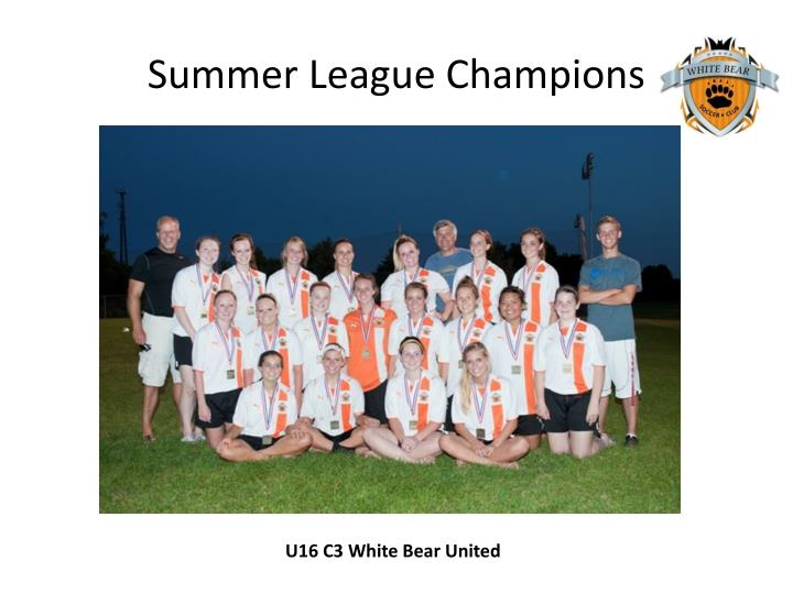 Summer League Champions