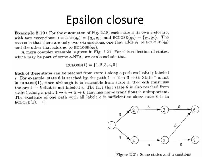 Epsilon closure