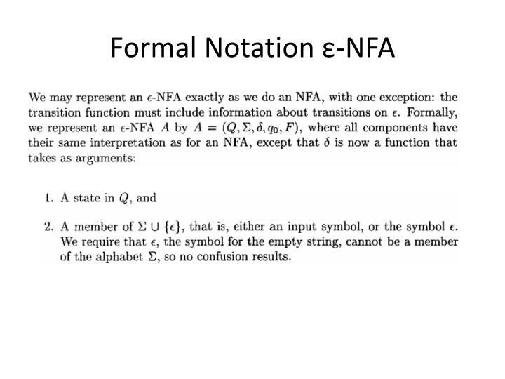 Formal Notation