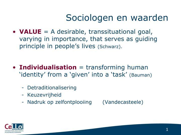 Sociologen en waarden