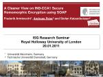 a cleaner view on ind cca1 secure homomorphic encryption using soap