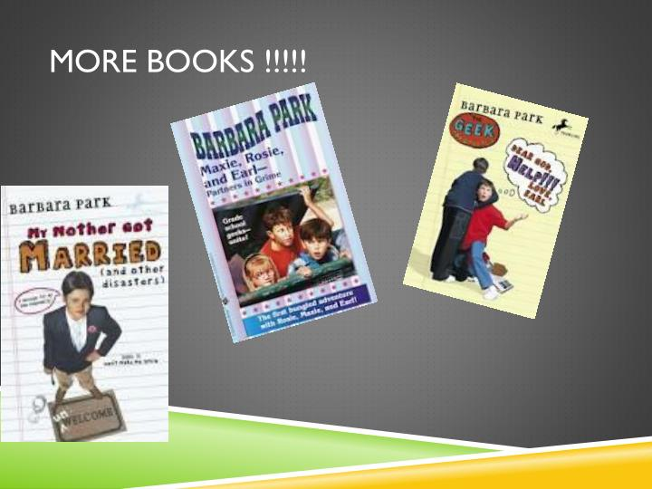 More books !!!!!