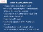 asccc recommendations