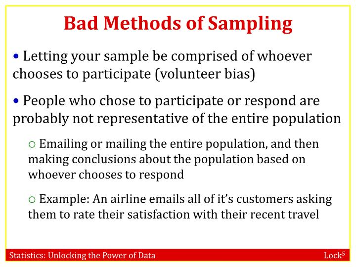 Bad Methods of Sampling