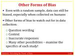 other forms of bias