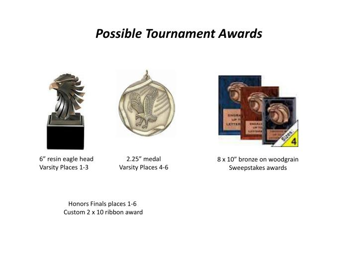 Possible Tournament Awards