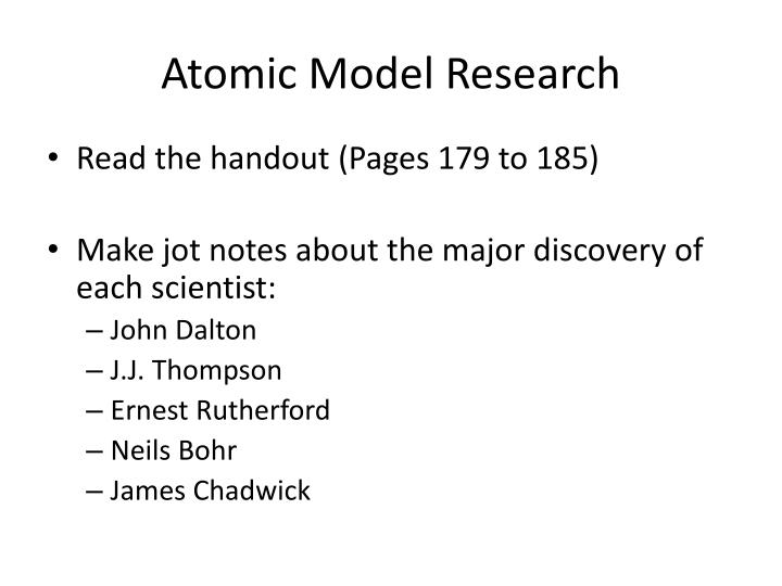 PPT - Atomic Model Activity PowerPoint Presentation - ID:2835546