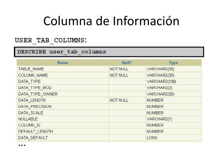 Columna de Información