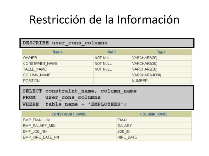 Restricción