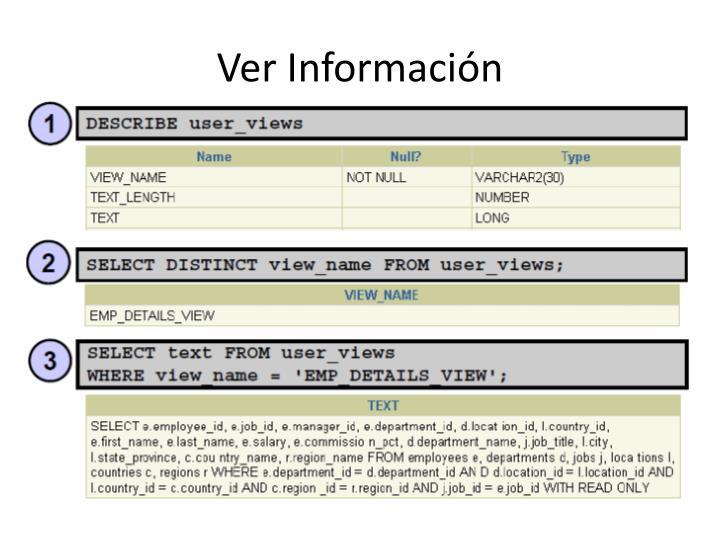 Ver Información