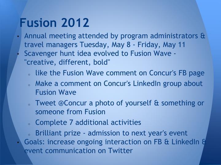Fusion 2012