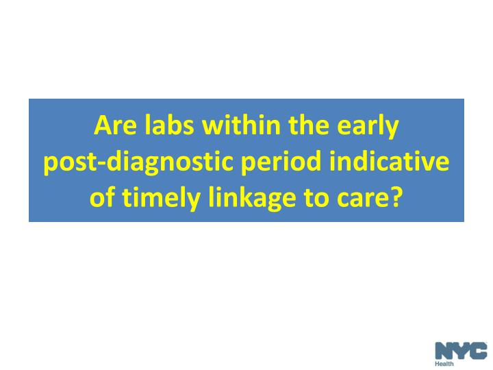 Are labs within the early